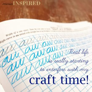 Real life is really starting to interfere with my craft time! *** Goal setting for better mental and physical health.